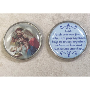 Holy Family Epoxy Pocket Tokens
