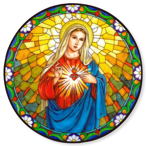 Immaculate Heart of Mary Static Sticker