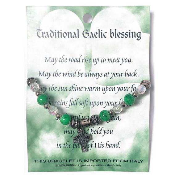 Irish Blessings Card & Bracelet