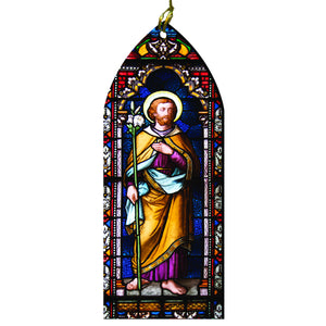 Saint Joseph Stained Glass Ornament