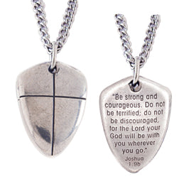 Small Shield of Faith Necklace