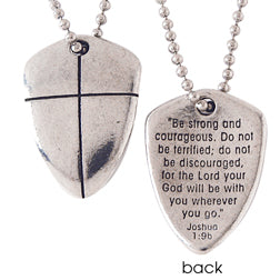 Large Shield of Faith Necklace