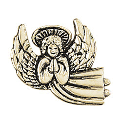 Praying Flying Angel Lapel Pin