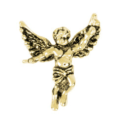 Guardian Angel Gold Lapel Pin