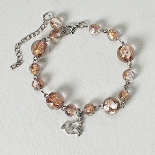 Glass Confirmation Bracelet