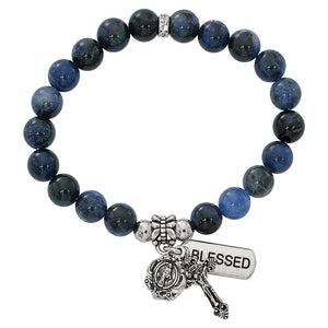 Blue Lapis Stretch Bracelet