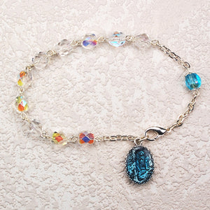 Crystal Our Lady of Lourdes Bracelet