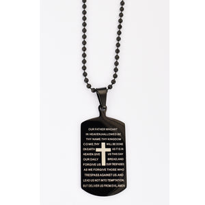 Our Father Dog Tag Necklace