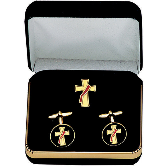 Deacon Pin & Cufflink Set