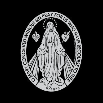 Miraculous Medal Auto Decal