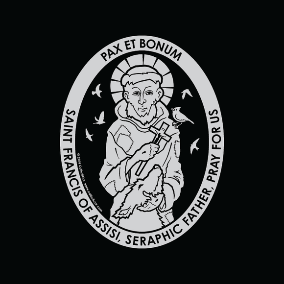 St. Francis of Assisi Car Decal