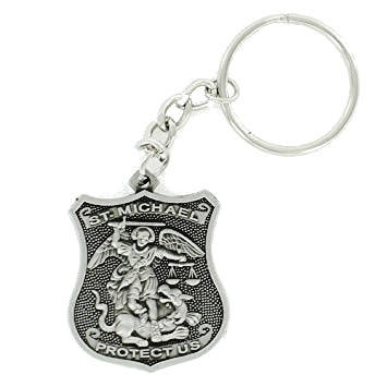 St. Michael Shield Police Keychain
