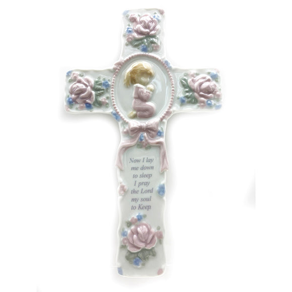Large Praying Girl Cross