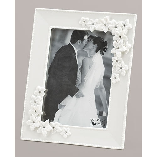 Vertical Love in Bloom Wedding Frame