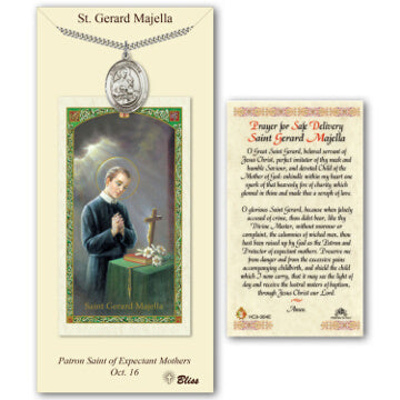 St. Gerard Pewter Medal with Prayer Card