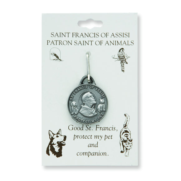 Large St. Francis Pet Medal