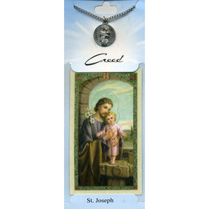 St. Joseph Pewter Medal with Prayer Card