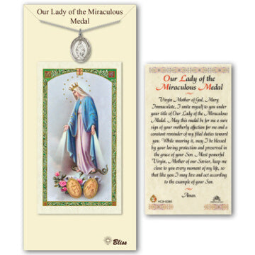 Miraculous Medal with Prayer Card