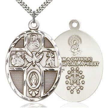 5-Way Holy Spirit Sterling Silver Medal