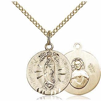 Our Lady of Guadalupe Gold Filled Medal