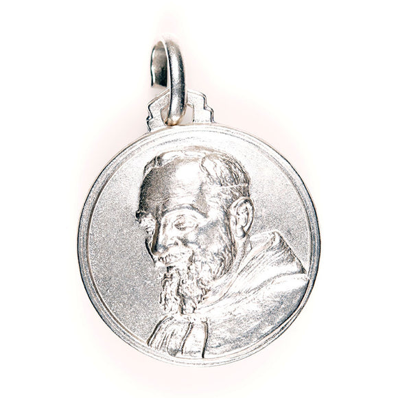 Padre Pio Sterling Silver Medal