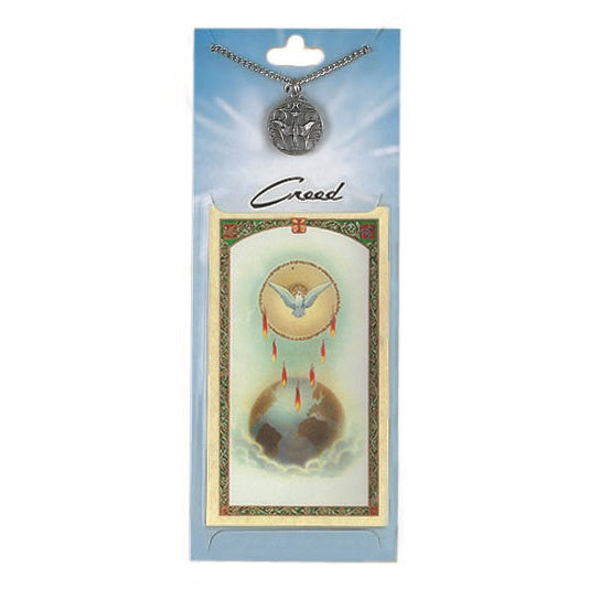 Holy Spirit Pewter Medal with Prayer Card