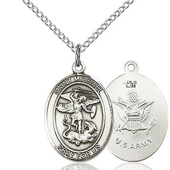 St. Michael Army Sterling Silver Medal