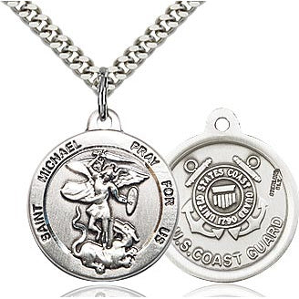 St. Michael Coast Guard Sterling Silver Medal