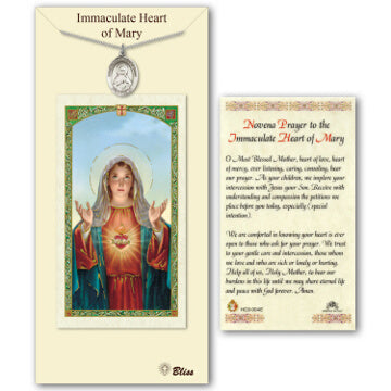 Immaculate Heart of Mary Pewter Medal with Prayer Card