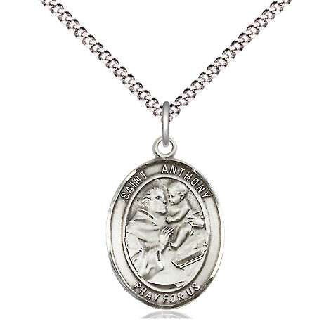 St. Anthony Oval Sterling Silver Medal
