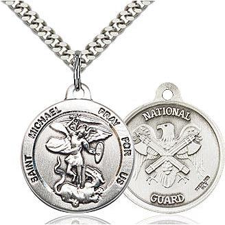 St. Michael National Guard Sterling Silver Medal