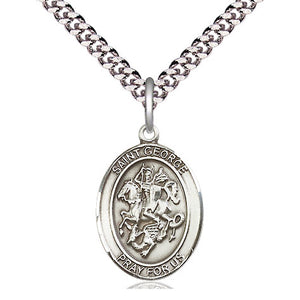 St. George Sterling Silver Oval Medal