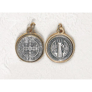 Two-Tone Saint Benedict Medal