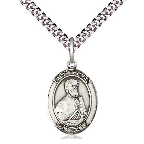 St. Thomas the Apostle Sterling Silver Oval Medal