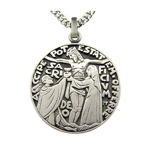 Crucifixion Sterling Silver Medal Round