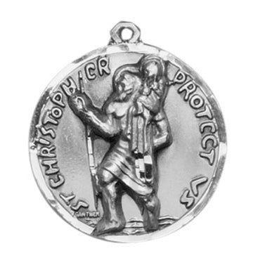 St. Christopher Sterling Silver Medal Round