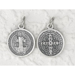 Large Silver St. Benedict Necklace