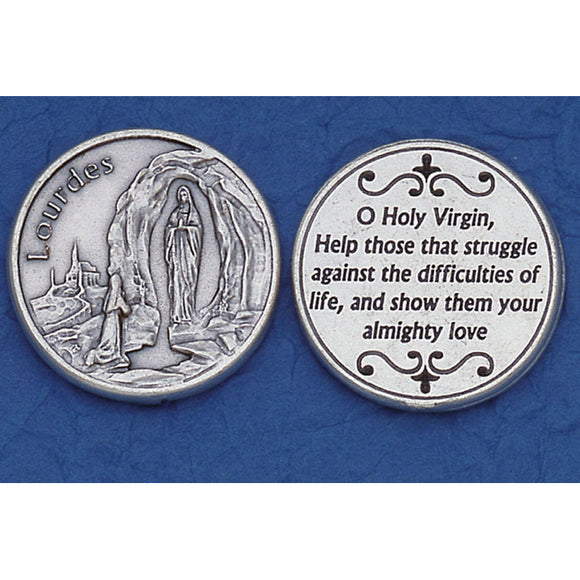 Our Lady of Lourdes Pocket Token
