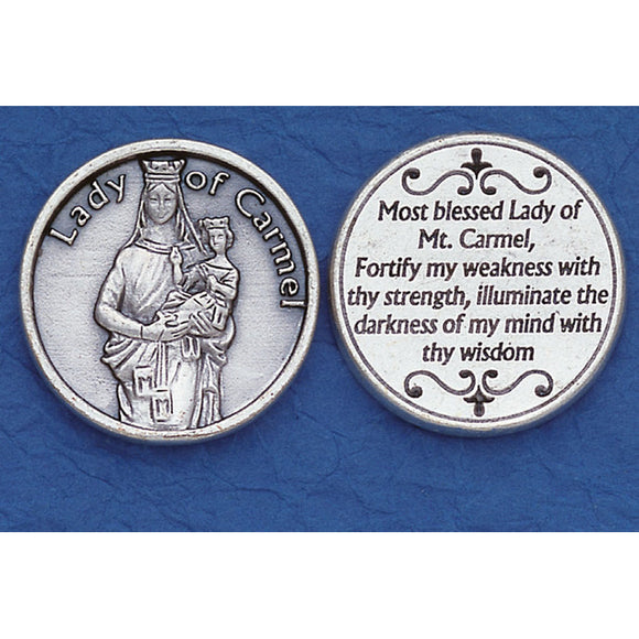 Our Lady of Mt. Carmel Pocket Token