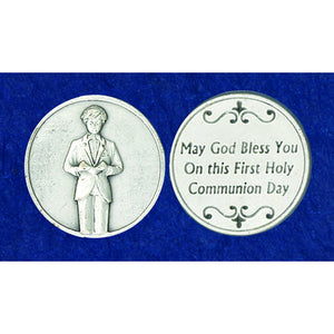 First Communion Boy Pocket Token
