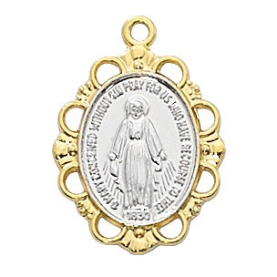 Gold over Sterling Silver Miraculous Medal