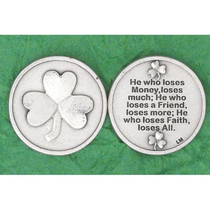 Irish Shamrock Pocket Token