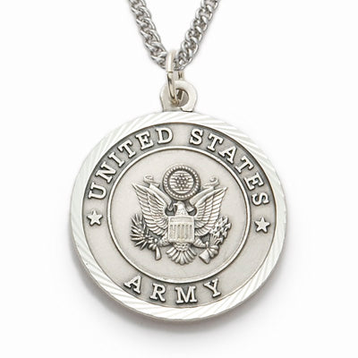 St. Michael Sterling Silver Army Medal