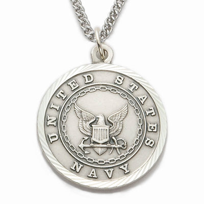 St. Michael Sterling Silver Navy Medal