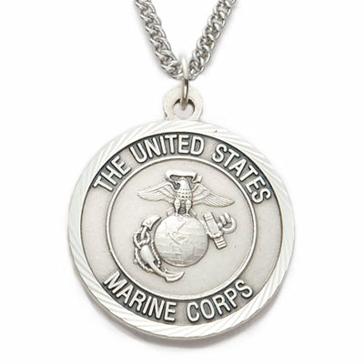 St. Michael Sterling Silver Marine Medal