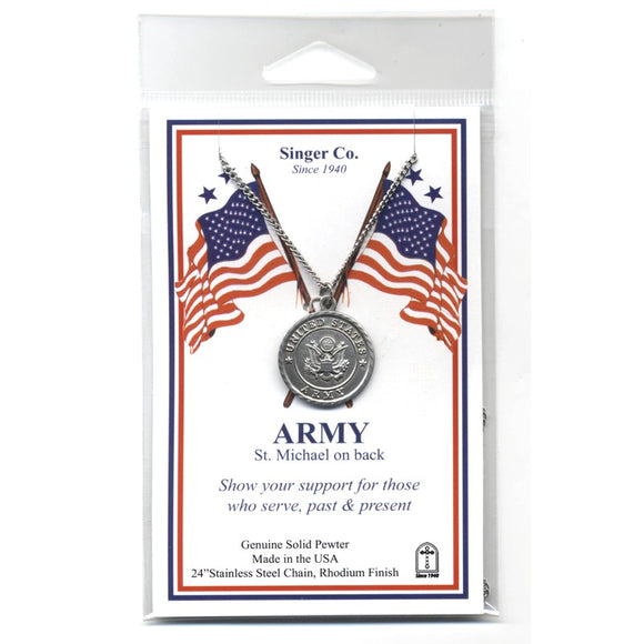 St. Michael Pewter Army Medal