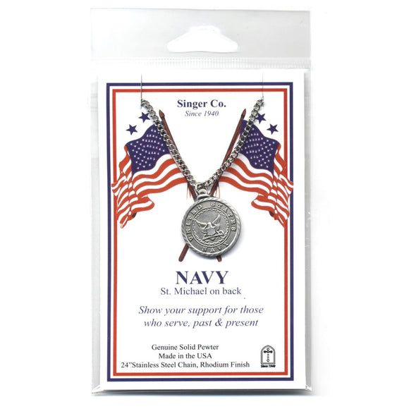 St. Michael Pewter Navy Medal