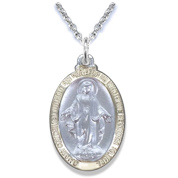 Small Two Tone Miraculous Medal