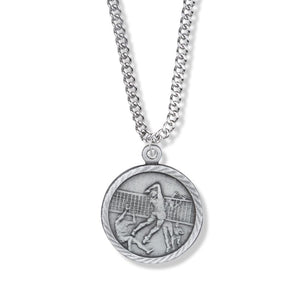 St. Christopher Pewter Volleyball Medal