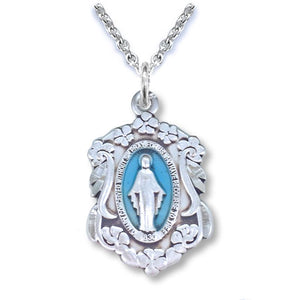 Floral Boarder Miraculous Medal